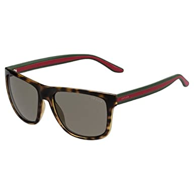 aa3f05ea2d1 Amazon.com  Gucci Men s GG 1118S Havana Green Red  Clothing