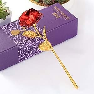 febou 24K lámina de oro rosa, regalo para cumpleaños, día de la madre, día de San Valentín, aniversario, decoración de hogar cocina