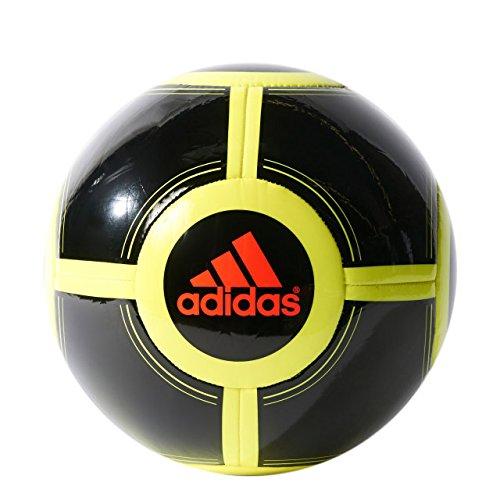 adidas Performance Ace Glider II Soccer Ball, Black/Solar Yellow/Solar Red, Size 4