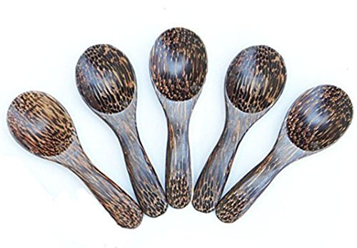 [5 Pcs. X 3.0 Inch Palm Wood Small Spoons Sugar Seasoning Salt Spoons] (Cereal Killer Costumes)