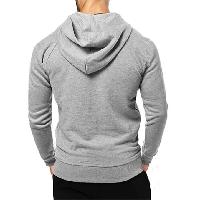 Hombre YiYLunneo Sudadera con Capucha Hombre Diseño Sudadera Hombres Hoodies For Men Suéter Hombre Invierno Pullover Cremallera Camiseta: Amazon.es: Ropa y ...