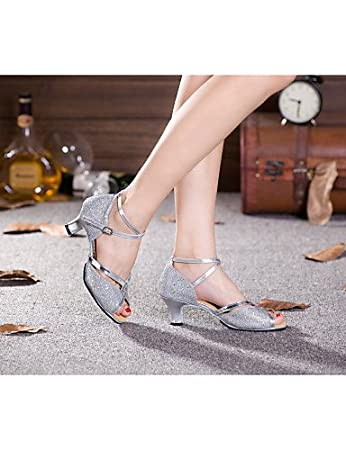 ShangYi Non Customizable Women's Dance Shoes Modern Paillette Cuban Heel More Colors , red-us4-4.5 / eu34 / uk2-2.5 / cn33 , red-us4-4.5 / eu34 / uk2-2.5 / cn33