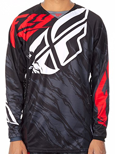 Fly Racing Black-Red-White 2017 Kinetic Relapse Mx Jersey (L , (Fly Racing Mx)