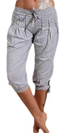 ChengZhong - Pantalones de chándal para Mujer Gris Gris Claro XS ...