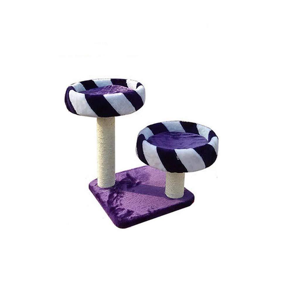 Hexiansheng Cat Climb Trees Plush Small cat Platform mat can Clean sisal Pillar 40  40  50cm