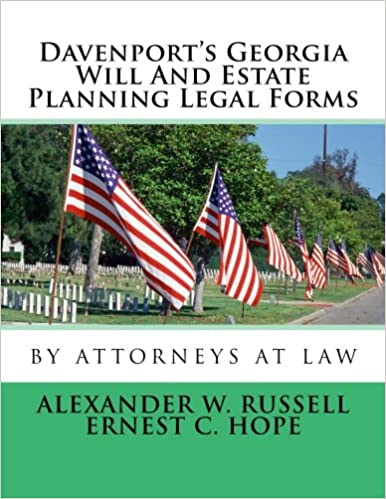 Davenports Georgia Will And Estate Planning Legal Forms Alexander - Georgia legal forms