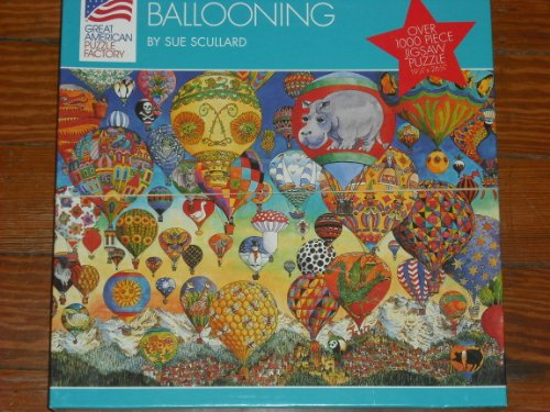 Ballooning by Sue Scullard ~ 1000 Piece Puzzle ~ Hot Air Ballons from Great American Puzzle Factory