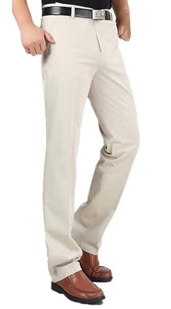 De con Sólido Los Alta De De Hombres Lanceyy De Negocios Rectos Color Estilo Pantalones Pantalones Pantalón Simple De Cintura Bolsillos Pantalones qwYOIR