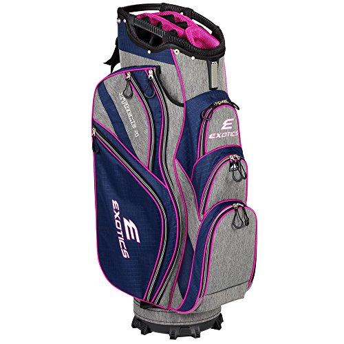 Tour Edge Male Exotics Xtreme4 Cart Bag Men s, Exotics Ladies Extreme 4 Cart Bag Navy Scratch Plaid Pink