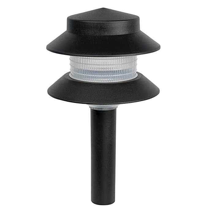 Paradise By Sterno Home Low Voltage Plastic 4 Watt Two Tier Path Light, Black by Sterno Home