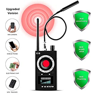 Hidden Camera Detectors,Anti Spy RF Detector Wireless Bug Finder GPS Tracker GSM Listening Device, Laser Lens Magnetic Field Detectors with 3 Detection Modes