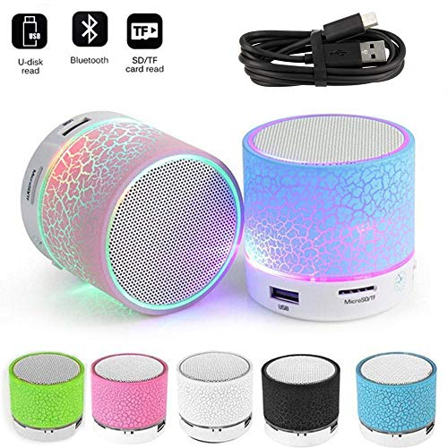 Music World EASYSHOPEE S10 Mini Wireless Portable Plastic Bluetooth Speakers with TF Card Hi-fi MP3 Music Player Subwoofer Home Audio for All Android and Apple Devices (Multicolour)
