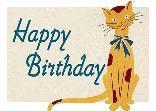 Smiling Cat Birthday Card Grace Skaar 9781595837790 Amazon Books