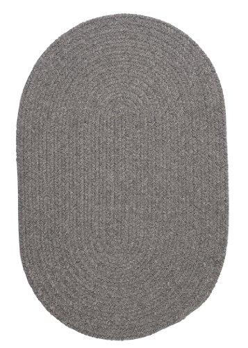 Cheap Bristol Polypropylene Braided Rug, 3-Feet by 5-Feet, Gray