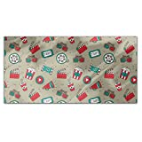 Movie Night Rectangle Tablecloth: Large Dining Room Kitchen Woven Polyester Custom Print