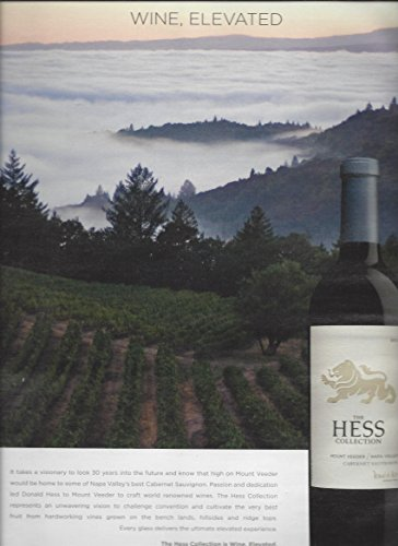 MAGAZINE AD For Hess Collection Napa Valley Cabernet Wine: Elevated