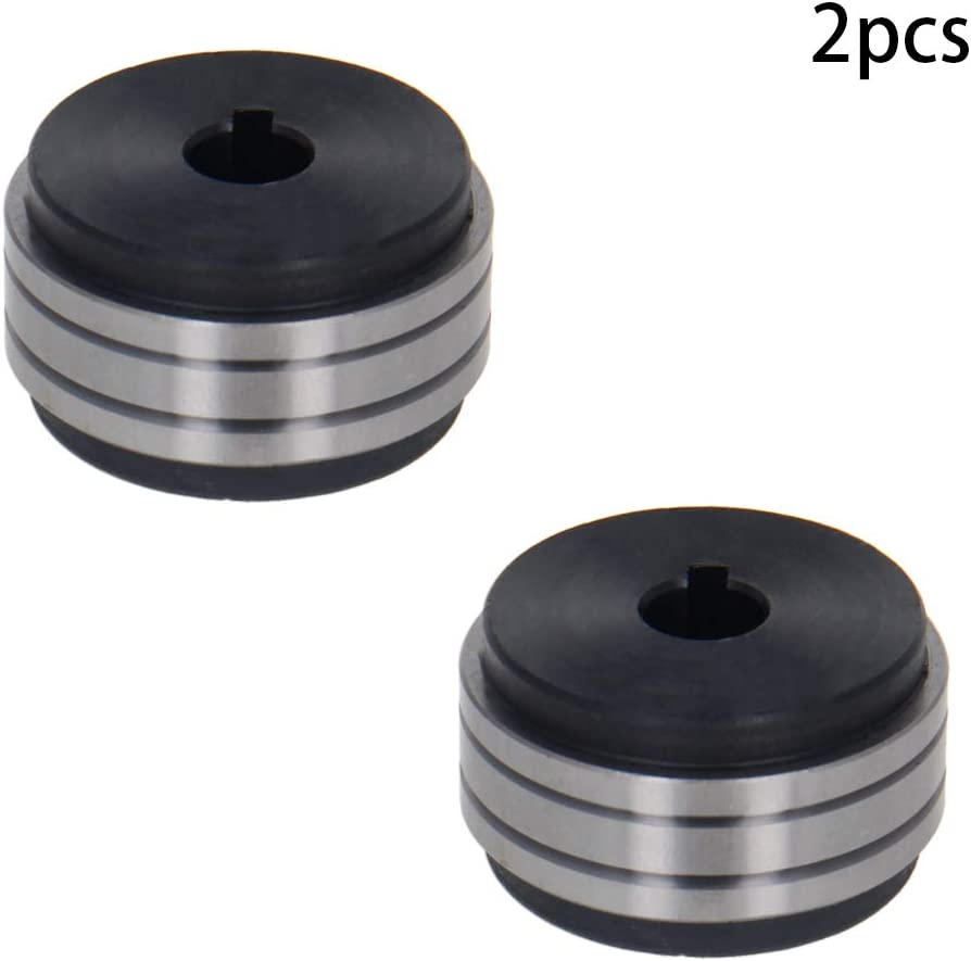 Utoolmart Drive Roll Kit 40mm Outer Diameter 10mm Bore 20mm Thickness Metal V-Groove Mig Welder Wire Feed Drive Roller Roll Parts 0.8//1.0 for Millermatic 2pcs