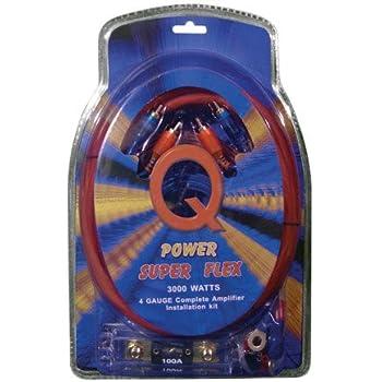Q Power Super Flex 4 Gauge 3000 Watt Amplifier Wiring Amp Kit4GAMPKIT-SFLEX