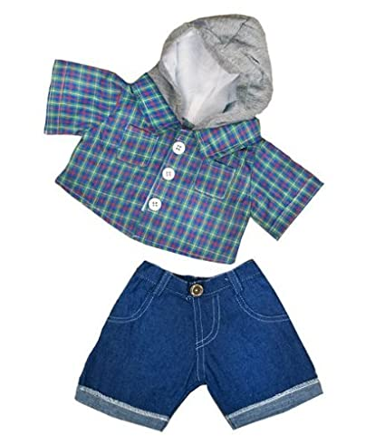 skater hoodie wdenim pants teddy bear clothes outfit fits most 14 18quot