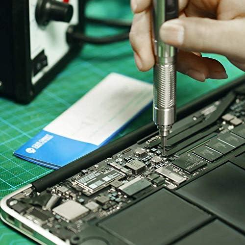 感覚の電気スクリュードライバースマートな動き制御 OLED の表示および2つのドリルビットの作り付けの力の保護デジタルプロダクト分解用具 (銀製)