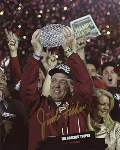 Jimbo Fisher Florida State Seminoles Autographed 8x10 Photo - Certified Authentic