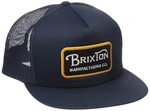 e4f078d11 Brixton Men's Grade High Profile Adjustable Mesh Hat, Navy/Gold ...