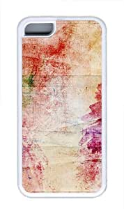 Colours background Custom iPhone 5C Case Cover TPU White