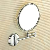 YAOHAOHAO Bath rooms mirror wall filming/D- & folding rearview mirror/bath rooms, double-sided sliding door mirrors telescope/magnifying mirror - A