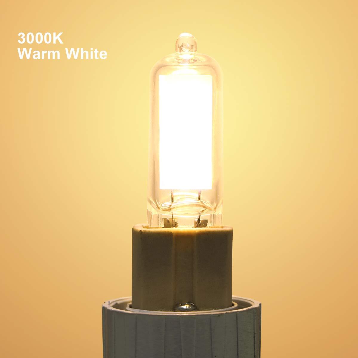 G9 L/ámparas LED 2W Equivalente a 20W Hal/ógena 360/° /Ángulo de Haz y No Regulable Vicloon G9 LED Bombillas G9 COB L/ámpara Blanco C/álido 3000K 200LM Pack de 6 AC 220-240V