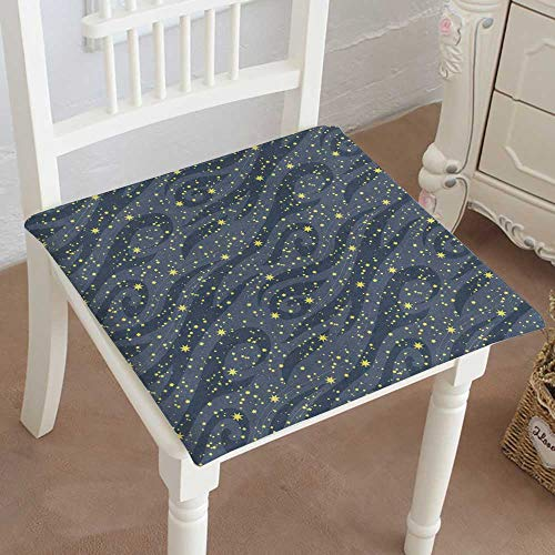 Mikihome Dining Chair Pad Cushion Many Bright Stars in The Night Sky can be Used for Wallpaper Textile Fashions Indoor/Outdoor Bistro Chair Cushion 32