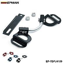 EPMAN Car Vehicle Adjustable Battery Hold Down Kit Clamp Bracket Bolts For Subaru Toyota (Black)