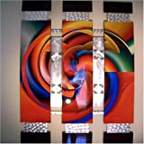HUGE ABSTRACT Metal WALL SCULPTURE Modern Art - GALAXY