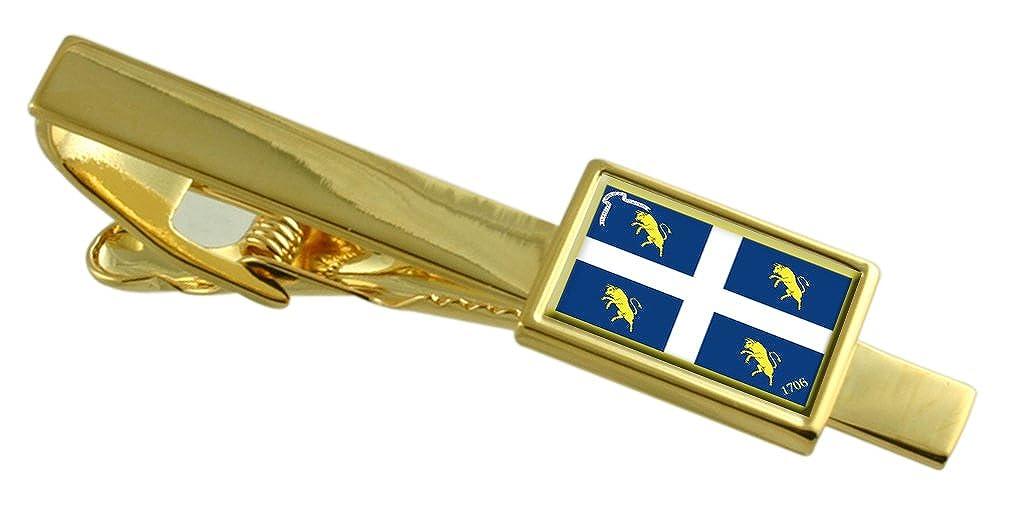 トリノ市イタリアの国旗金タイクリップ刻印されパーソナライズされた   B06ZYH4ZPP