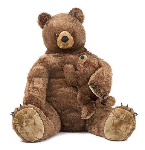 Melissa and Doug Giant Brown Bear and Baby Cub -  Lifelik...