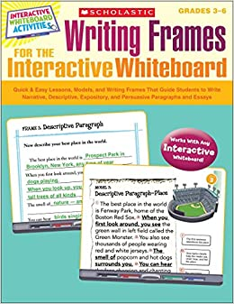 Amazoncom Writing Frames For The Interactive Whiteboard Quick