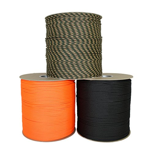 SGT KNOTS Dacron Polyester Accessory Cord (6mm) 100% Polyester Rope - Multi-Purpose Polydac Line - for Boating, DIY Projects, Crafting, Cargo Tie-Downs, Camping, More (25 feet - Black)