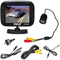 Pyle PLCM35R Vehicle Rearview Backup Camera & Monitor System, Night Vision, Waterproof, Flush Mount Cam, 3.5 Monitor Display, Parking/Reverse Assistance