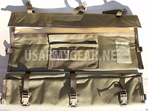 New USMC Army Military Coyote Brown MACHINE GUN BARREL Spare Range RIFLE Carrying Tactical CASE Bag M 5.56 M249 by US Goverment GI USGI