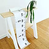 BingHang Baby Growth CharPortable Roll-Up Children'S Height Measure Chart Durable Canvas Ruler Photo Height Chart 20x200 cm