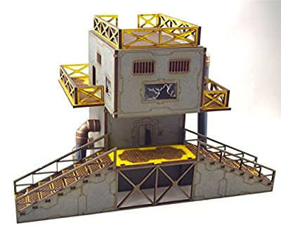 Industry of War – 28mm Defensive Power Service Tower – Necromunda Sci-Fi 40k Warhammer from Wws