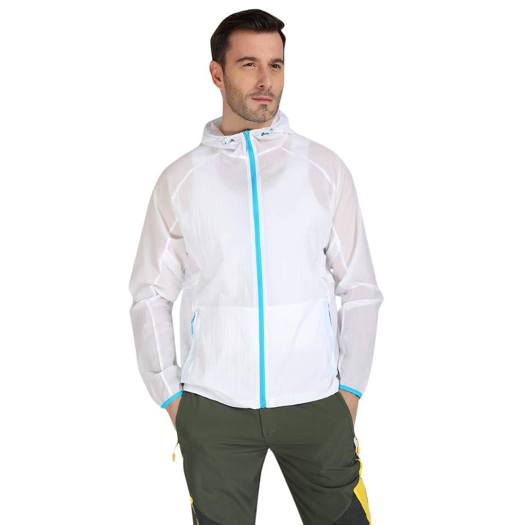 ✔ Hypothesis_X ☎ Women Men Water-Repellent Windbreaker Front-Zip up Jacket utdoor Sports Quick Dry Windbreaker Coat Top White by ✔ Hypothesis_X ☎ Top