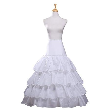 Kinandpri Boda de Mujer Falda Enagua Vestido de Fiesta 4 Falda ...