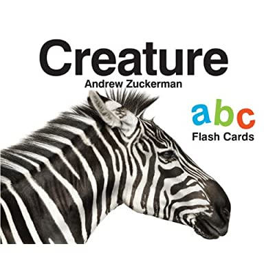 Chronicle Books' Creature by Andrew Zuckerman ABC Flash Cards with Animals (Animal Flash Cards, Learning ABCs Flash Cards, ABC Flash Cards for Toddlers): Zuckerman, Andrew: Toys & Games