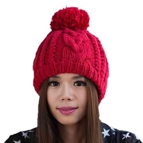 Sombrero señoras de Maozi 3 Sombrero Punto Coreana 1 Lana de Coreano Moda Invierno Sombrero a del Las Bromista Punto de Rw8p7wq5