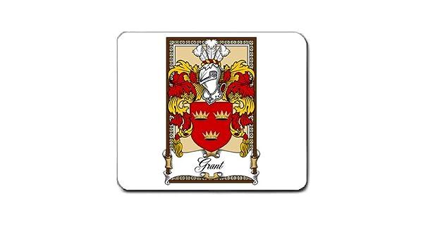 Grant familia escudo escudo de armas alfombrilla de ratón: Amazon.es: Oficina y papelería