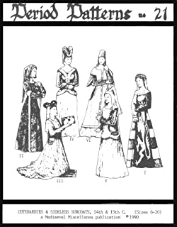 Amazon com: 14th Century Women's Surcote Pattern: Arts