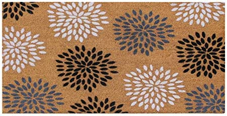 A1 Home Collections PTF2007-30X48 doormat A1HC Large Vinson Floral Outdoor Door Mat,Flocking Technology, 30 X48 , 30 X 48