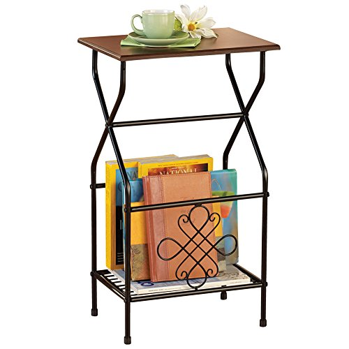 Magazine Rack Side Table - Collections Etc Side Table with Magazine Holder