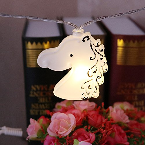 Nearby Party Supplies - DELICORE LED Unicorn String Fairy Lights for Bedroom Christmas Decorative Indoor Party Unicorn Lights for Garden, Fairy Lights, Rope Lights