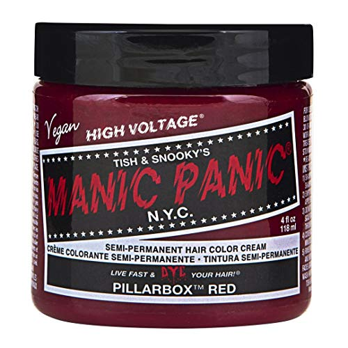 Manic Panic - Pillar Box Red Cream Hair Color - 4 oz. (Temporary Red Hair Dye For Dark Hair)